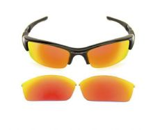 NEW POLARIZED CUSTOM FIRE RED LENS FOR OAKLEY FLAK JACKET SUNGLASSES